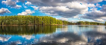 Belles réflexions de lac Photo stock