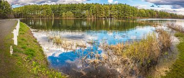 Belles réflexions de lac Photos libres de droits
