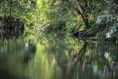 Belles réflexions sur le canal de Chichester dans le Sussex occidental, Angleterre images libres de droits
