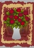 Belles roses dans le vase Illustration Stock