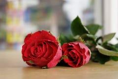 Belles roses rouges pour mon amour la Saint-Valentin Images libres de droits