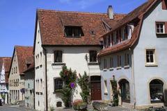 Belles rues dans le der Tauber d'ob de Rothenburg Photo libre de droits