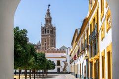 Belles rues et attractions de la ville merveilleuse de Séville Photo libre de droits