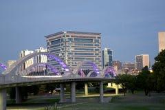 Belles scènes de nuit de Fort Worth de ville Images libres de droits