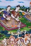 Belles statues thaïlandaises de littérature à décorer sur le ch bouddhiste images libres de droits