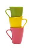 Belles tasses de couleur Photos stock