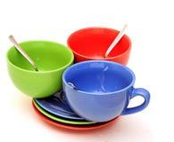 Belles tasses de couleur Photographie stock libre de droits