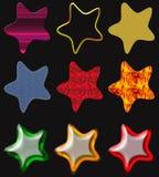 belles étoiles d'isolement Image libre de droits