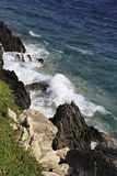 Belles vagues de la mer Égée Image stock