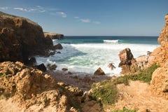 Belles vagues de rupture sur l'Océan Atlantique Images libres de droits