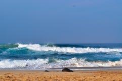 Belles vagues sur la plage 02 photo libre de droits