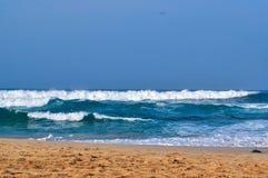 Belles vagues sur la plage 01 photos libres de droits
