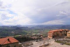 Belles villes en Italie Image libre de droits