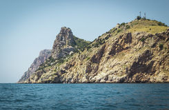 Belles vues de la baie de Balaclava Photos stock