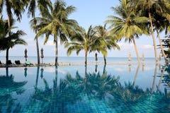 Belles vues de la piscine Image libre de droits