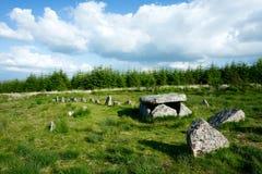Bellever cist i kamienny rząd Zdjęcie Royalty Free
