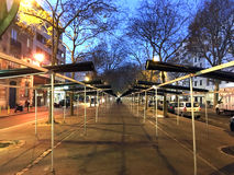 Belleville a fermé le marché Images libres de droits