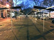 Belleville a fermé le marché Photo libre de droits