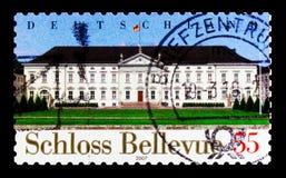 Bellevue城堡,柏林, Bellevue城堡-联邦总统serie办公室,大约2007年 免版税图库摄影