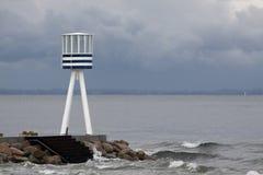 Bellevue Beach lifeguard tower. Bellevue Beach in Copenhagen Denmark Stock Images