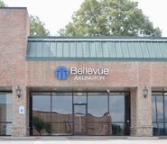 Bellevue Church, Arlington, TN. Bellevue Baptist Church is a large Southern Baptist megachurch in the Cordova area of Memphis, Tennessee, United States. Bellevue stock photography