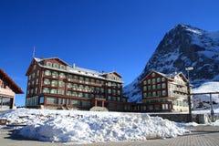 Bellevue des Alpes Hote在少女峰,瑞士 免版税库存照片