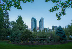 Bellevue downtown park in the evening Royalty Free Stock Photography