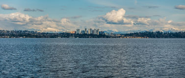 Bellevue linia horyzontu i kaskady panorama 4 Fotografia Stock