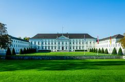 Bellevue Palace, official residence Berlin. Bellevue Palace, official residence of the Federal President in Berlin. NIce Colors for cover print or travel royalty free stock photography