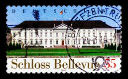 Bellevue Roszuje, Berlin, Bellevue kasztel - biuro Federacyjny prezydenta seria około 2007, Fotografia Royalty Free