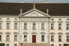 Bellevue schloss. The neoclassical palace, residence of the President of the Federal Republic of Germany, Berlin, Germany Stock Photos