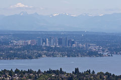 Bellevue and Seattle royalty free stock images