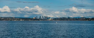 Bellevue Skyline and Cascades Panorama 2 royalty free stock images