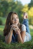 Belleza adolescente al aire libre Fotografía de archivo libre de regalías