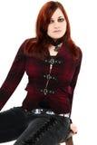 Belleza adolescente de Goth del jengibre Imagen de archivo