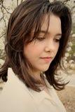Belleza adolescente que parece triste Imagenes de archivo