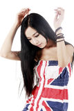 Belleza asiática con el pelo largo Fotografía de archivo