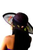 Belleza asiática con el sombrero de paja Fotos de archivo