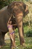 Belleza asiática en selva Imagen de archivo libre de regalías