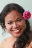 Belleza asiática feliz fotografía de archivo