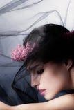 Belleza bajo velo Foto de archivo