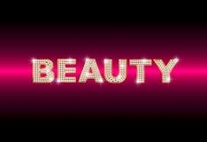 Belleza brillante de la palabra Foto de archivo