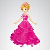 Belleza Cinderella In Pink Dress Foto de archivo
