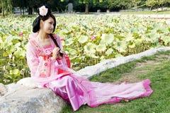 Belleza clásica en China. Imagen de archivo libre de regalías