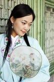 Belleza clásica en China. Imagen de archivo