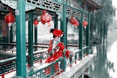 Belleza retra en China. imagenes de archivo