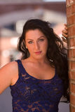 Belleza Dark-haired Imagen de archivo libre de regalías