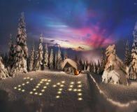 Belleza de hacer frente a la Navidad 2014 Foto de archivo