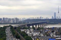 Belleza de la ciudad de Wuhan, China imagen de archivo libre de regalías