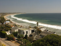 Belleza de la costa de Malibu, CA Foto de archivo